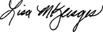 Lisa Klesges signature