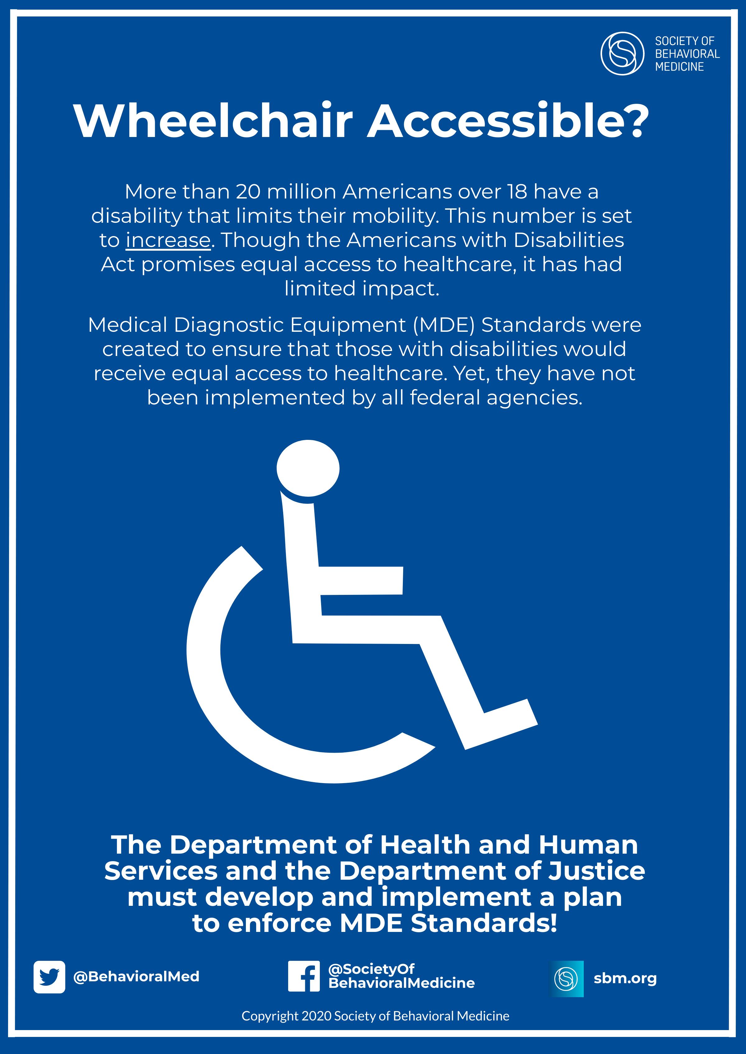 Healthcare Facilities Should Adopt Accessible Medical Diagnostic Equipment Standards